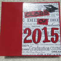 6x6 Class of 2015 Red Graduation Scrapbook Album