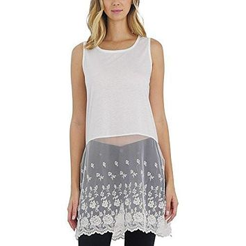 Women Lace Bottom Crop Tank and top extender