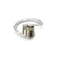 RAW PYRITE BRANCH RING