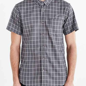 Publish Lamont Short-Sleeve Button-Down Shirt- Grey