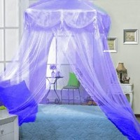 Purple Lilac Four Corner Square Princess Bed Canopy By Sid