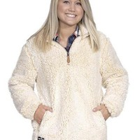 Simply Southern Sherpa Pull Over - Cream