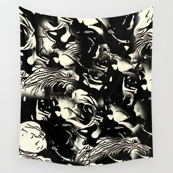 Abstract Roses Wall Tapestry by MaksciaMind