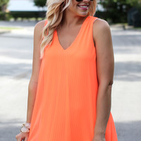 Under Neon Lights Dress- Neon Orange