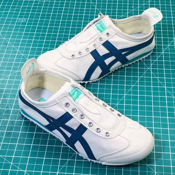 Onitsuka Tiger Mexico 66 White Blue Sport Shoes - Best Online Sale