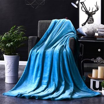 LL Solid Coral Fleece Throw Blanket Several Sizes and Colors