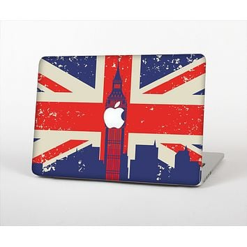 The Vintage London England Flag Skin Set for the Apple MacBook Pro 13""