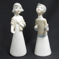 Singing Lady Figurines Made in Spain Carolers Choir Girls
