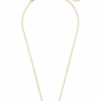 Elisa Gold Pendant Necklace in Rose Quartz | Kendra Scott