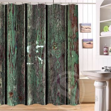 Old wood Personalized Custom Shower Curtain Bath Curtain Waterproof  MORE SIZE  SQ0422-LQO60