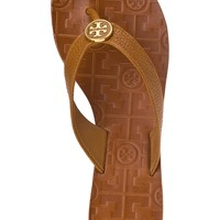 Tory Burch Thora Flip Flop Royal Tan Leather - Jildor Shoes, Since 1949