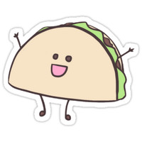 'Happy Taco!' Sticker by jordanberdovich