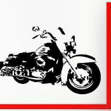 Bike Biker Passion Motorcycle Speed Decor Wall Stickers Vinyl Decal Unique Gift (z2252)