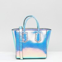 Skinnydip | Skinnydip Mini Cosmo Iridescent Tote Bag at ASOS