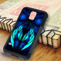 Stained Glasses Blue Feather Peacock Samsung Galaxy S5 Case