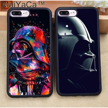 MaiYaCa Luxury Star War Darth Vader FATHER Soft Rubber Phone Cases For Coque iPhone 7 7 Plus 6 6S Plus 5 5S 5C SE 4S Cover Shell