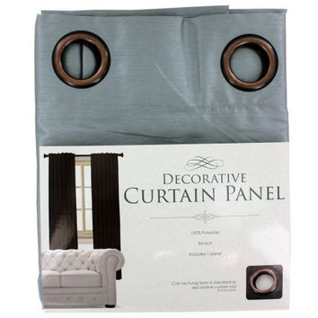 Decorative Faux Silk Curtain Panel ( Case of 2 )