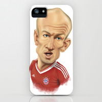Arjen Robben - Bayer Munich iPhone & iPod Case by Sant Toscanni