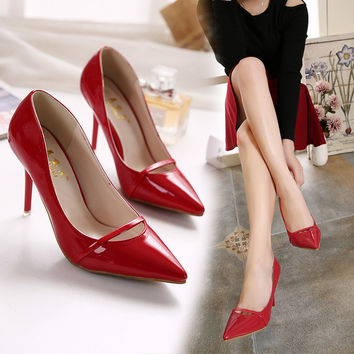 Summer Sexy Pointed Toe High Heel Korean Princess Shoes [6044951937]