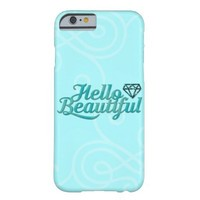 Hello Beautiful teal Barely There iPhone 6 Case