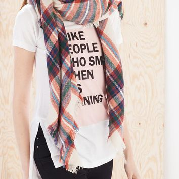 Soft check print neck scarf - NECK SCARVES - Stradivarius United Kingdom
