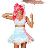 Lady Laughter Clown Top & Skirt Costume