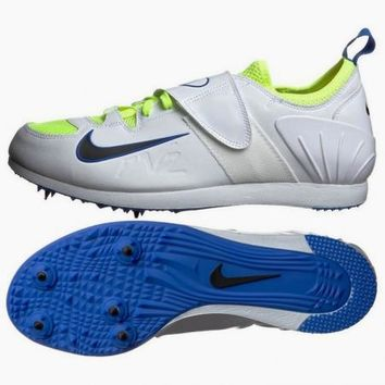 New Mens NIKE Zoom PV II White Pole Vault Track Field Spikes Shoes
