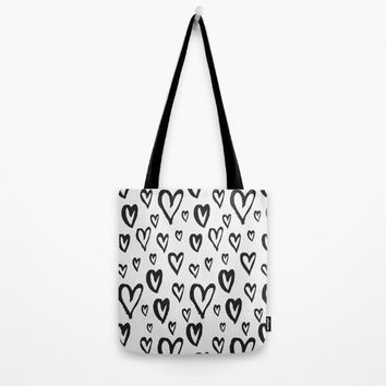 Inky Dinky Hearts Tote Bag by All Is One
