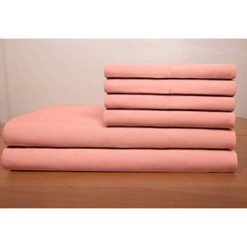 Chelsea Loft Collection Ultrasoft Brushed Microfiber Bedding Sheet  Blush TWIN