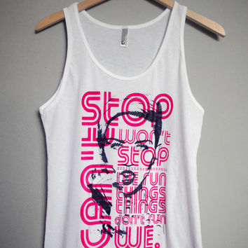 Miley Cyrus - Can't Stop Won't Stop - We Run Things Tank Top (XS-XL)