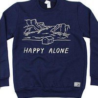 Happy Alone Crew Neck Sweatshirt