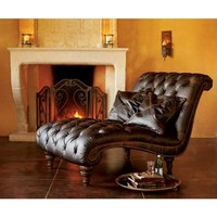 Double-time Leather Lounge - Club Brown