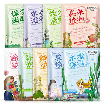 Hot Useful Facial Skin Care Face Mask Plant Ingredient Moisturizing Whiting Oil-control Korea Cosmetics H22 V2