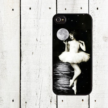 Vintage Ballerina Moon Goddess Phone Case for iPhone 44s by Arete