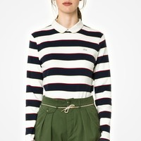 L!VE Long Sleeve Rugby Stripe Polo