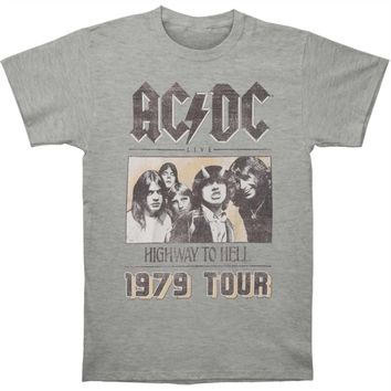AC/DC Men's  79 Tour T-shirt Heather