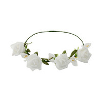 White Flower Garland Headband