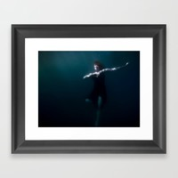 Dancing Under The Water Framed Art Print by Nicklas Gustafsson