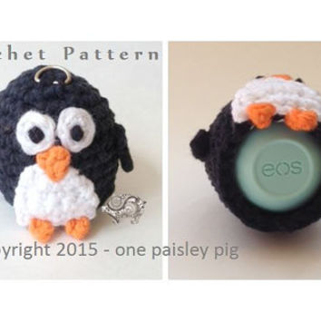 Penguin eos Lip Balm Holder - PDF CROCHET PATTERN