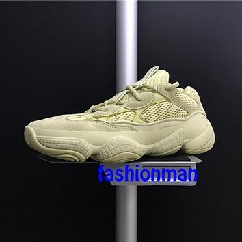 With Box kanye west Adidas Yeezy Boost Runner Desert Rat 500 DB2966 Running Shoes For men women Super Moon Yellow Top Quality Discount Sneakers Size 36-46