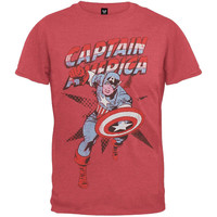 Captain America Red Rush Mens T-Shirt