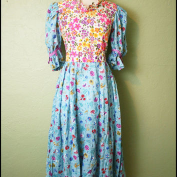 Vintage '60s Floral Maxi Dress// Psychedelic by StoriesForBoys