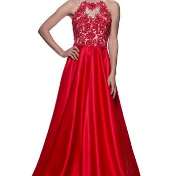 Evening Prom Sleeveless Long Dress