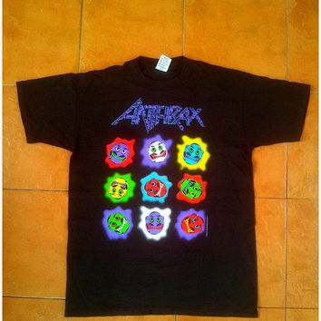ON SALE Vintage Vtg ANTHRAX Know No Colors Concert Thrash Metal Tour 1990s T shirt Size L