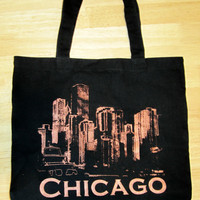 Chicago Skyline Tote by plaidpearls on Etsy