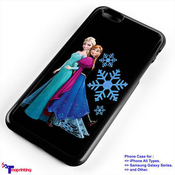 Frozen Elsa and Anna Design 2 - Personalized iPhone 7 Case, iPhone 6/6S Plus, 5 5S SE, 7S Plus, Samsung Galaxy S5 S6 S7 S8 Case, and Other