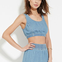 Contemporary Denim Crop Top | LOVE21 - 2000167568