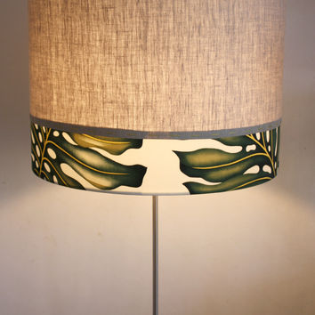 monstera stitched floor lamp