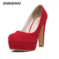 Pumps 2017 Women's shoes autumn thick heel shoes ol high-heeled shoes female the trend of ultra high heels female shoes