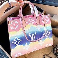 Louis Vuitton LV 2020 new rainbow gradient ladies temperament handbag shoulder bag